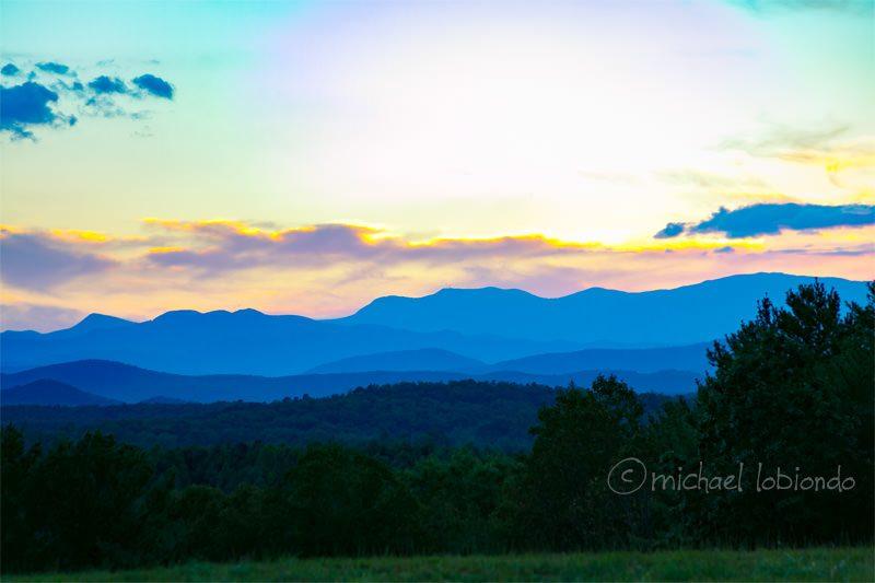 sunset-blue hills-lanscape-colors
