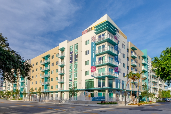 Apartment exterior in Ft. Lauderdale Florida
