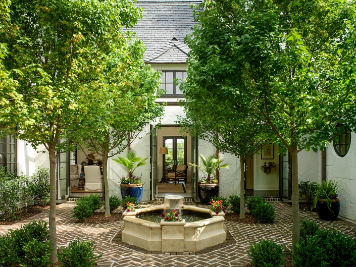Courtyard of residence on Kiawah Island South Carolina
