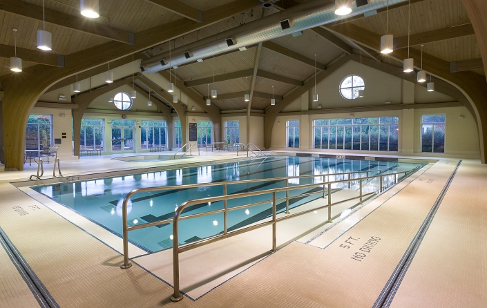 Interior pool at retirement facility