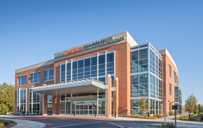 Commercial Healthcare Photography of Orthopedic Clinic OrthoCarolina Exterior