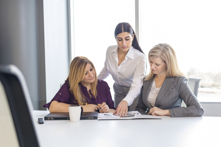 Commercial and Corporate Photography - Women in Business - Female executives in meeting
