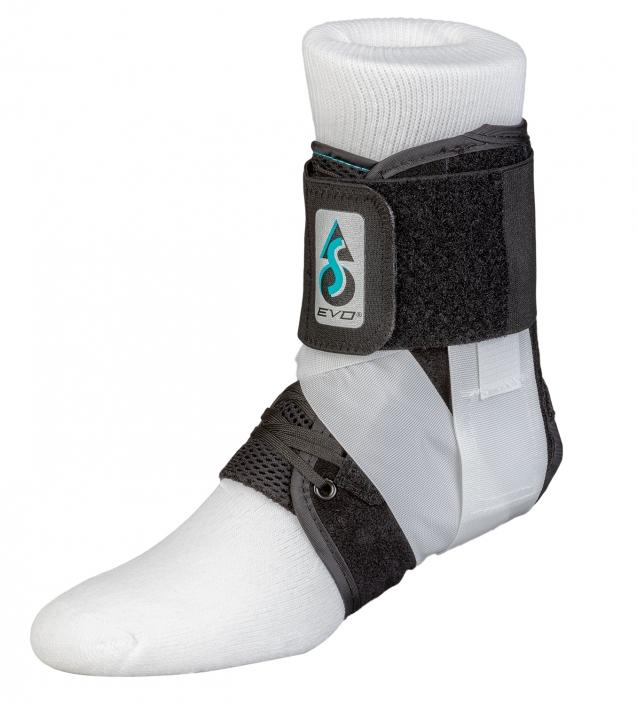 Medical ankle brace on white